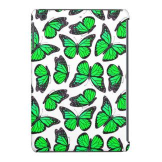Green Monarch Butterfly Pattern iPad Mini Retina Cover