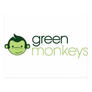 Green Monkeys Postcard