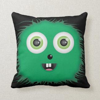 Green Monster American MoJo Throw Pillow