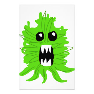 Green Monster Baby Apparel Stationery