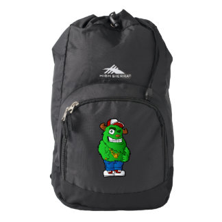 green monster backpack