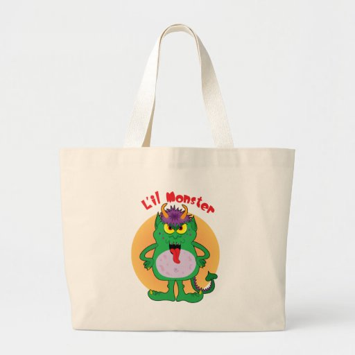 Green Monster Canvas Bags