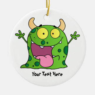 Green Monster (customizable) Ceramic Ornament