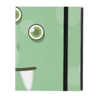 Green Monster Face iPad Case