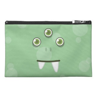 Green Monster Face Travel Accessories Bag