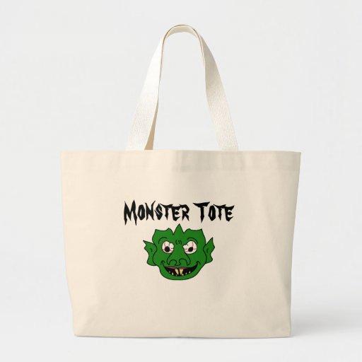 Green Monster Head Tote Bag