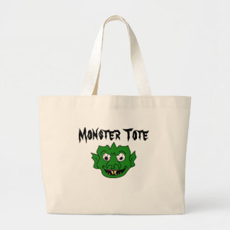 Green Monster Head Jumbo Tote Bag