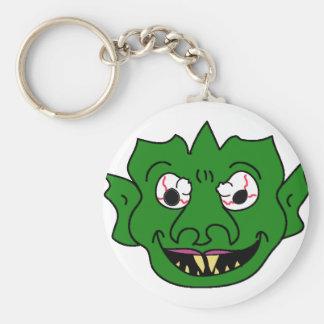 Green Monster Head Keychains