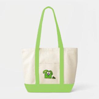 Green monster impulse tote bag