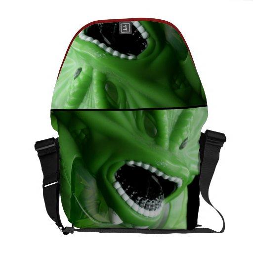 Green Monster Messenger Bag
