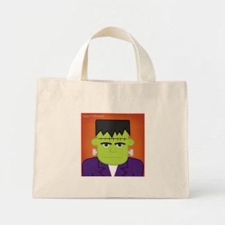Green monster mini tote bag