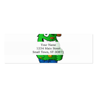 green monster pack of skinny business cards