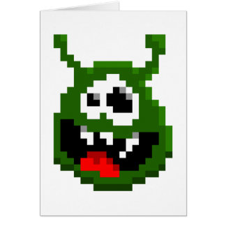 Green Monster - Pixel Art Card