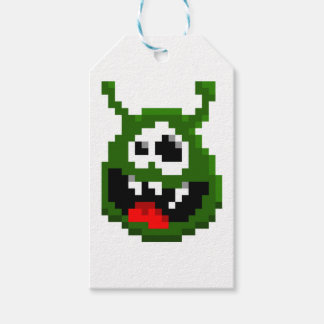 Green Monster - Pixel Art Gift Tags