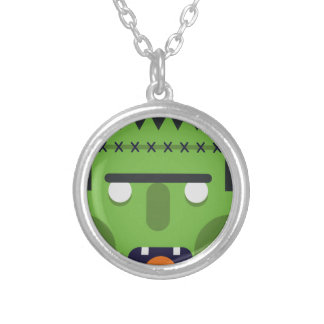 Green Monster Silver Plated Necklace