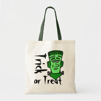 Green Monster trick or Treat Tote Bag