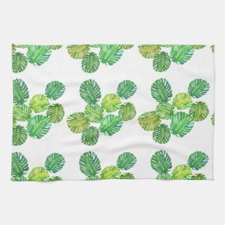Green Monstera Jungle Kitchen Towel