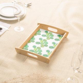 Green monstera jungle tray