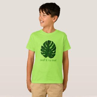 Green Monstera Leaf T-Shirt