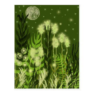 Green Moon Fantasy Postcard