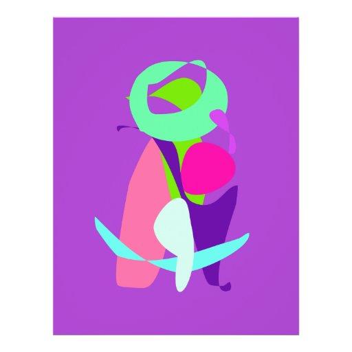Green Moon Purple Background Personalized Flyer