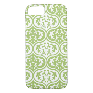 Green Moroccan Leaves pattern iPhone 7 Case