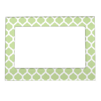 Green Moroccan Pattern Magnet Picture Frame