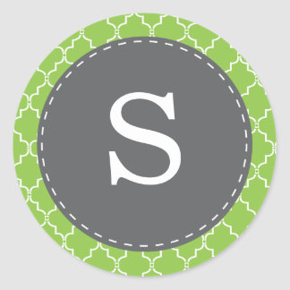 Green Moroccan Trellis Monogram Envelope Seal