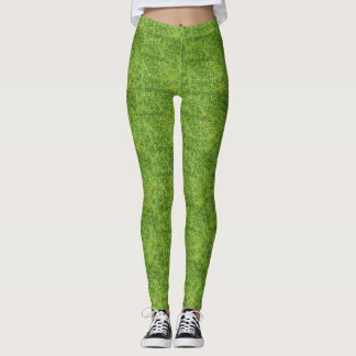 Green Mosaic Abstract Cozy Leggings
