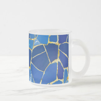 Green Mosaic Parc Guell Tiles in Barcelona Spain Frosted Glass Coffee Mug