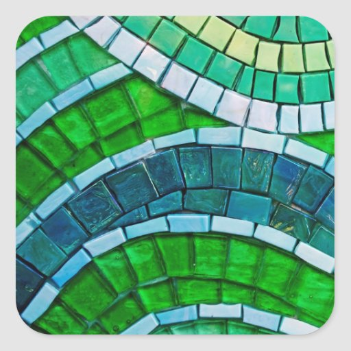 Green Mosaic Tiles Stickers