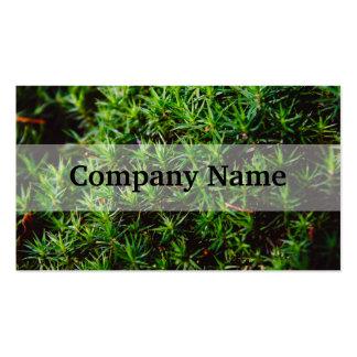 Green Moss Closeup Photograph Business Card Templates