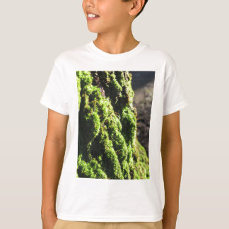 Green moss in nature  Detail of moss covered trunk T-Shirt