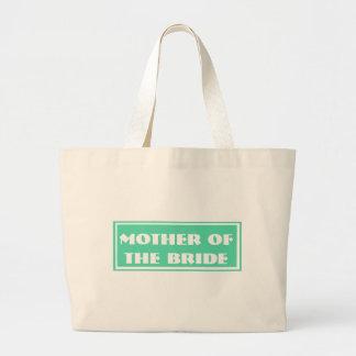 Green Mother of the Bride Wedding Jumbo Tote Bag