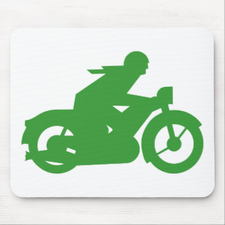 Green Motorbiker Sign Mouse Pad