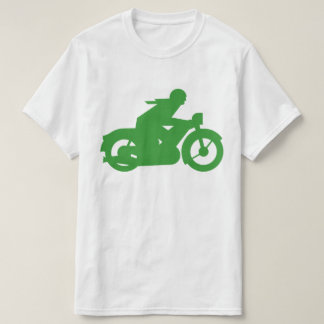 Green Motorbiker Sign T-Shirt