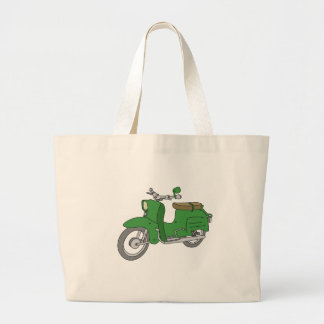 "Green Motorscooter ""Schwalbe"" Large Tote Bag"