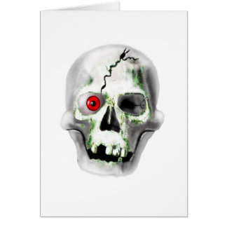 green mould on skull greeting card