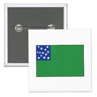 Green Mountain Boys Flag 15 Cm Square Badge
