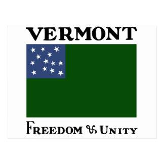 Green Mountain Boys Flag of the Vermont Republic Postcard
