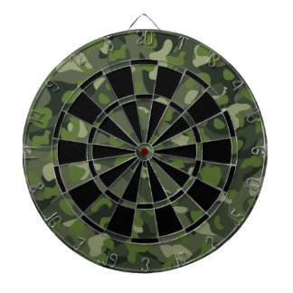 Green mountain disruptive camouflage dartboard