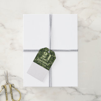 Green mountain disruptive camouflage gift tags