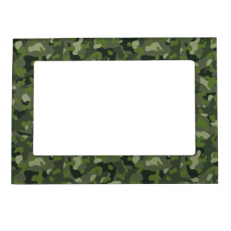 Green mountain disruptive camouflage magnetic picture frame
