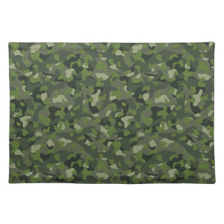 Green mountain disruptive camouflage placemat