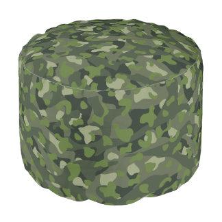 Green mountain disruptive camouflage pouf