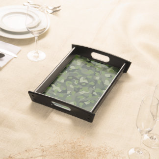 Green mountain disruptive camouflage serving tray