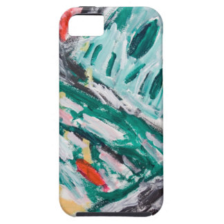 Green Mountain Rapids (abstract landscape) Tough iPhone 5 Case