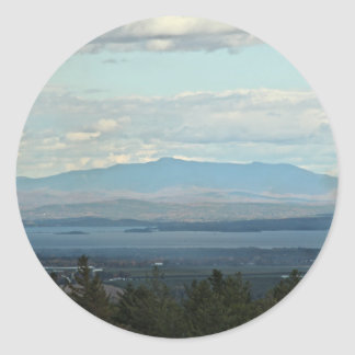 Green Mountains Classic Round Sticker