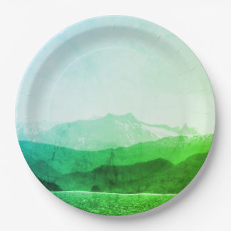 Green Mountains Paper Plates