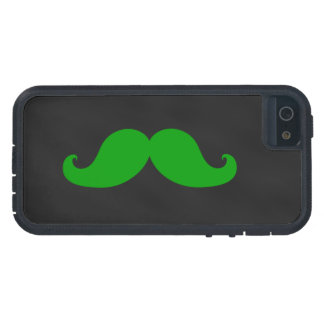 Green Moustache on Black Chalkboard iPhone 5 Case